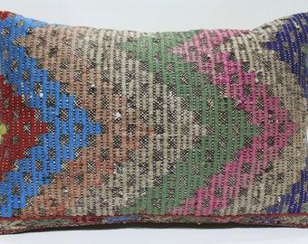 16x24 Kilim Pillow 16x24 Lumbar Kilim Pillow,Kilim Cushion Cover, Decorative Pillow Homedecor Pillow Handmade Turkey Kilim Pillows 16x24 749