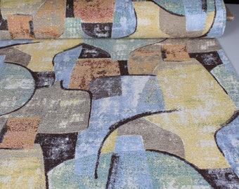 0,5 mètre de brocart tissé en Espagne, motif rappellant des peintures de Picasso