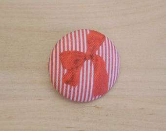 x 1 19mm button fabric bow ref A38