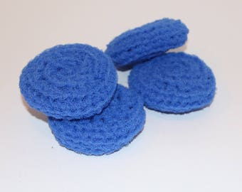 Scrubbies Crochet Set of 4 Radiant Blue Color