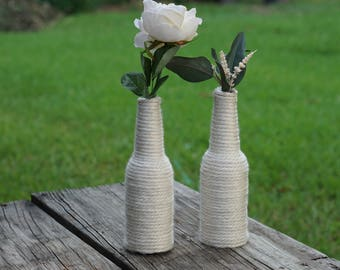 Yarn bottle vase