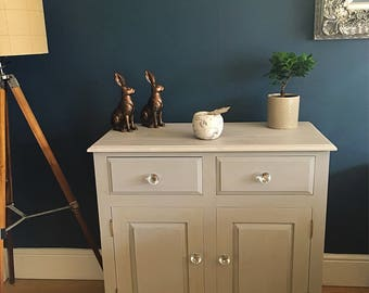 Solid pine painted cupboard