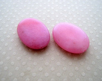 Set of 2 jade beads dyed pink 18 x 25 mm - PJO 0653