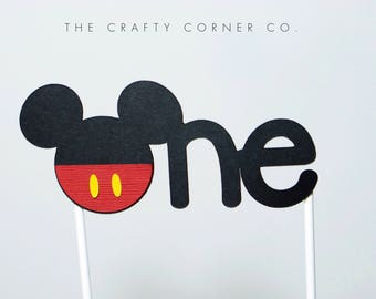 MICKEY MOUSE 1st Birthday Cake Topper | ONE Cake Topper