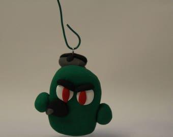 "Ornament= Microbe ""Scuba Tank"" -Polymer Clay-"