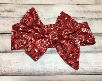 TIED, Pinup Headwrap, Red Headwrap, Baby Headband, Toddler Bows, Big Bow Headwrap,Headband, Headwrap, Infant Headwrap, Baby Girl Headwrap