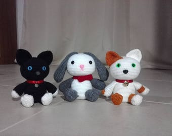 Plush Bunny & Cats