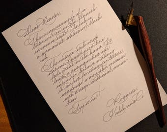 Custom Handwritten Letter