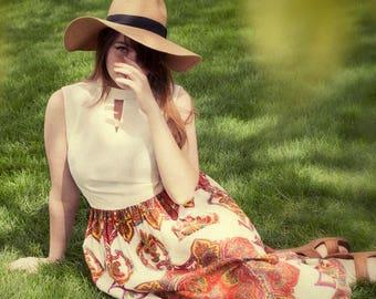 maxi dress, JW Robinson, hippie, flower child dress