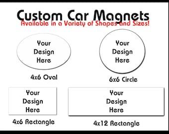 Car Magnets Etsy - Custom car magnets ovalx custom magnets oval magnets outdoorcar magnetsmil