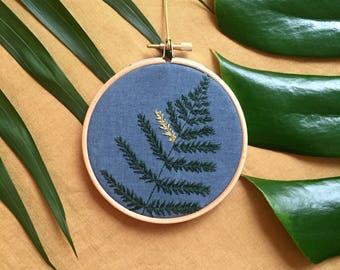 Linen - Blue Fern #6 Herbarium
