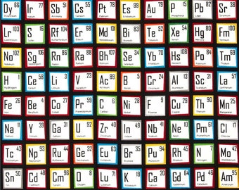 Periodic Table Oven Mitt