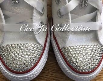 Glitter Converse, Wedding Converse, Bridal Converse, Glitter Shoes, Flower Girl Shoes, Glittery Shoes