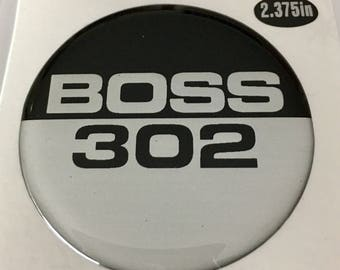 BOSS 302 Domed Ford Mustang emblem overlay