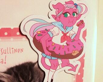 Donut demon girl magnet