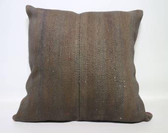 Turkish Kilim Pillow Ethnic Pillow Striped Kilim Pillow 24x24 Handwoven Kilim Pillow Sofa Pillow Ethnic Pillow Cushion Cover SP6060-1401