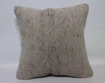 Handwoven Kilim Pillow Boho Pillow Throw Pillow 16x16 Decorative Kilim Pillow Sofa Pillow Cushion Cover SP4040-4189