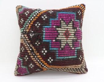 20x20 Pillow Cover Pink Pillows Colorful Pillow Floor Pillow Turkish Pillows Big Throw Pillows Large Cushion Cover Kilim Pillows SP5050-2602