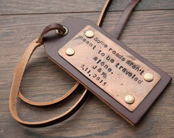Personalized Luggage Tag Leather Luggage Tag Travel Accessories Luggage Tags Personalized Mr and Mrs Luggage Tag Custom Luggage Tag Gift
