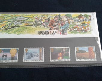 royal Mail stamps Industry year presentation pack 1986