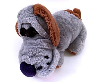 Kennel Club Wrinkles Dog Grey Pick of the Litter 1986 Ambiance Plush Stuffed Animal Rare 80s Vtg Retro Pound Puppies Vintage Toys Plushies