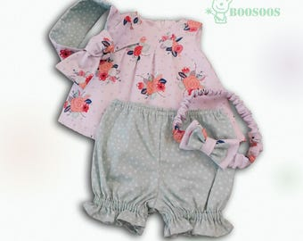 3 Piece Baby Girl Outfit