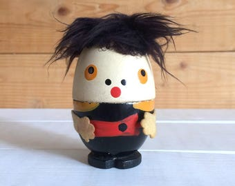 1950s Fairylite Quirky Wooden Humpty Dumpty Egg Cup