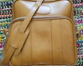 Vintage Vinyl Shoulder Bag / Luggage