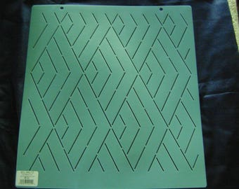 Sashiko Japanese Embroidery/Traditional Quilting Stencil 12 in. Diamond Waves Background/Quilting