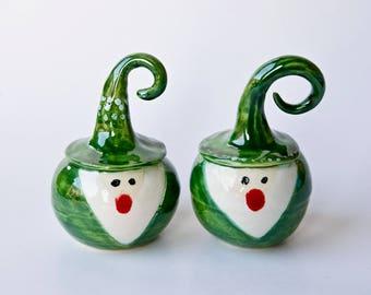 Christmas ornament Green Gnome