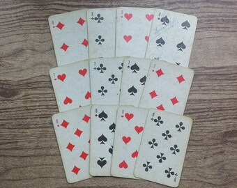 Soviet playing cards Vintage card deck Russian cards deck Collectible card deck Atlasnie playing cards Antique card deck Retro card deck 70s