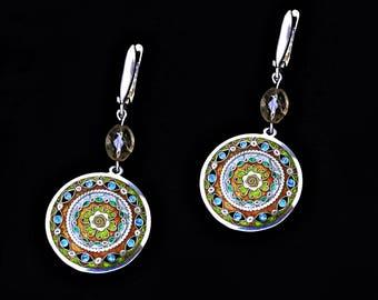 """Earrings by Cloisonne Enamel """"Mariam"""""""