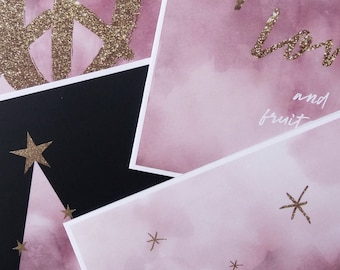 Glamour 4 pack xmas cards