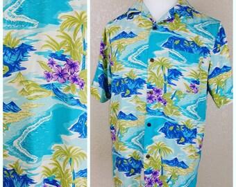 Vintage Hawaiian shirt by Island Republic.