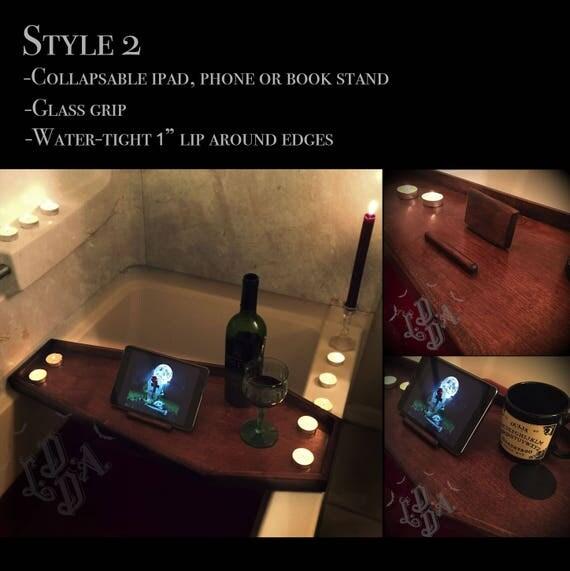 Bathroom Japanese Horror Game coffin bath tray bath caddy bathtub tray bath rack gothic