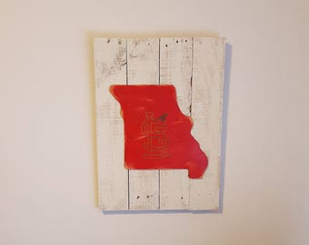 St. Louis Cardinals baseball Missouri pallet wood sign