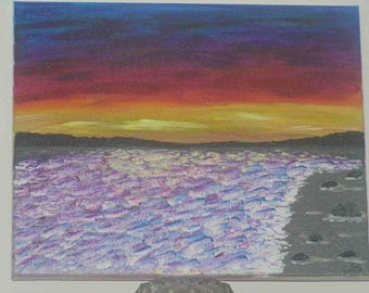 """Acrylic painting """"The magic of the ocean"""""""