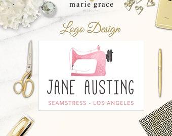 Sewing Logo Design, Seamstress Logo Design, Dressmaker Logo Design, Branding Pack