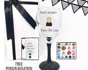 Lawyer Gift Lawyer Wine Glass Law Student Gift Law School