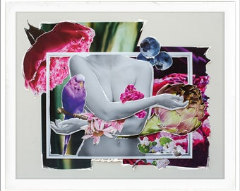 Bloom | original collage art print