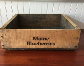 Wooden Fruit Crate Blueberry Crate Wood Box Wood Crate Orchard Vintage Crate Wooden Crate  Stock Number 112