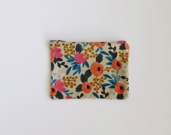 Rifle Paper Co Zippered Pouch, Zippered clutch, Makeup Bag, Pencil Pouch