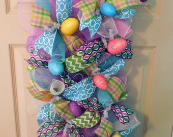 SALE Easter swag, Easter Wreath, Easter Egg Wreath, Easter wreaths, Easter, Easter swags,Easter decoration, long Easter Wreaths