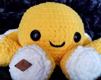 Large Squishy Yellow Octopus (READY TO SHIP)