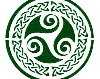 Triskele Celtic Symbol Stencil