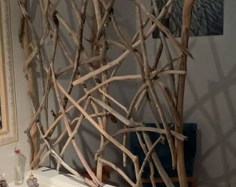 MADE to order: Room divider driftwood on wood Board painted white