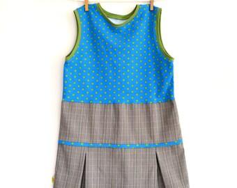 Robe élégante enfant à étoiles vertes (6 ans)