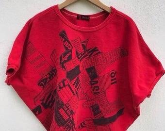 20% OFF Vintage KANSAI YAMAMOTO Sweatshirt 90s Kansai O2 Street Art Japan Designer Women Sweatshirt Kansai Energy Jumper