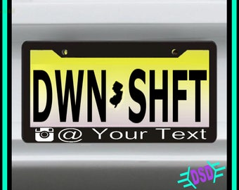 IG Name Custom License Plate Frame