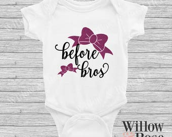 Bows Before Bros Baby Onesie in Sizes 0000-1